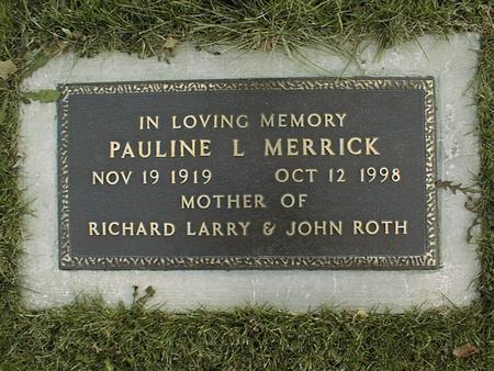 MERRICK, PAULINE L. - Jackson County, Iowa | PAULINE L. MERRICK