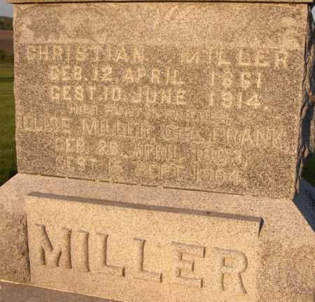MILLER, CHRISTIAN - Jackson County, Iowa | CHRISTIAN MILLER