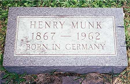 MUNK, HENRY - Jackson County, Iowa | HENRY MUNK
