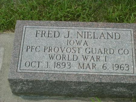 NIELAND, FRED J. - Jackson County, Iowa | FRED J. NIELAND