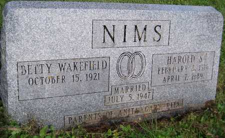 WAKEFIELD NIMS, BETTY - Jackson County, Iowa | BETTY WAKEFIELD NIMS