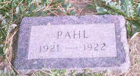 PAHL, (UNNAMED CHILD) - Jackson County, Iowa | (UNNAMED CHILD) PAHL