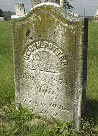 POTTER, GEORGE W. - Jackson County, Iowa | GEORGE W. POTTER