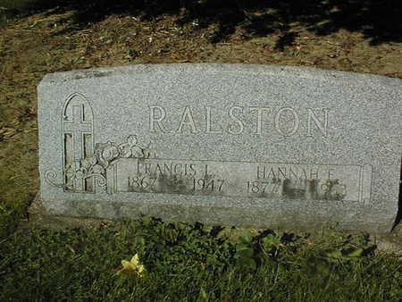 RALSTON, FRANCIS L. - Jackson County, Iowa | FRANCIS L. RALSTON