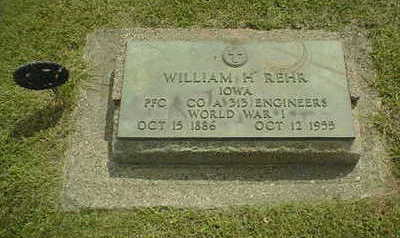 REHR, WILLIAM H. - Jackson County, Iowa | WILLIAM H. REHR