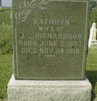 RICHARDSON, KATHRYN - Jackson County, Iowa | KATHRYN RICHARDSON