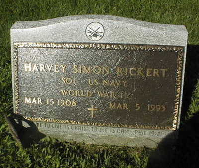 RICKERT, HARVEY SIMON - Jackson County, Iowa | HARVEY SIMON RICKERT