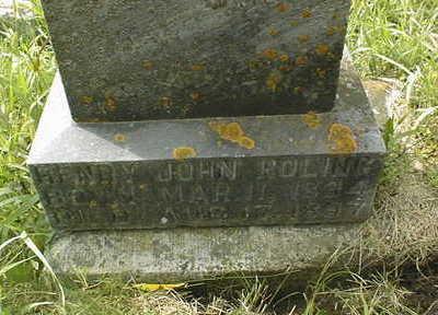 ROLING, HENRY JOHN - Jackson County, Iowa | HENRY JOHN ROLING