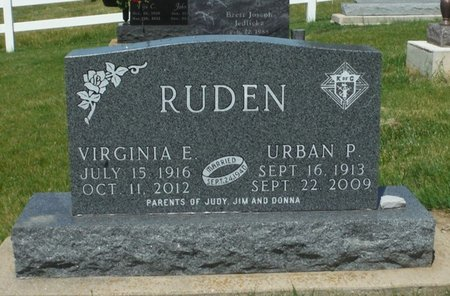 GERDEMANN RUDEN, VIRGINIA E. - Jackson County, Iowa | VIRGINIA E. GERDEMANN RUDEN
