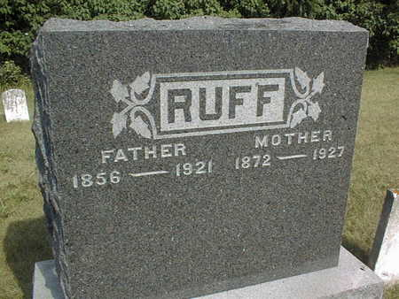 RUFF, FANNIE - Jackson County, Iowa | FANNIE RUFF