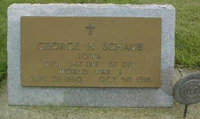 SCHAUB, GEORGE A. - Jackson County, Iowa | GEORGE A. SCHAUB