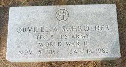 SCHROEDER, ORVILLE A. - Jackson County, Iowa | ORVILLE A. SCHROEDER