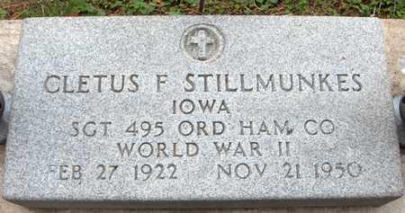 STILLMUNKES, CLETUS F. - Jackson County, Iowa | CLETUS F. STILLMUNKES