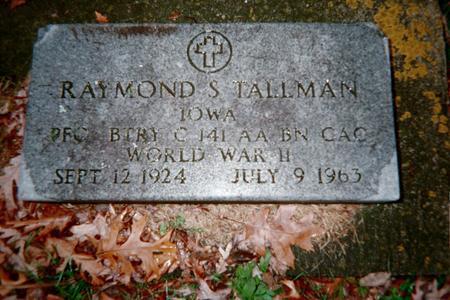 TALLMAN, RAYMOND S. - Jackson County, Iowa | RAYMOND S. TALLMAN