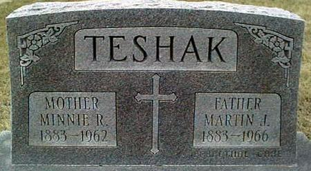 TESHAK, MINNIE R. - Jackson County, Iowa | MINNIE R. TESHAK