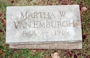 VAN EMBURGH, MARTHA W. - Jackson County, Iowa | MARTHA W. VAN EMBURGH