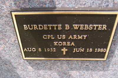 WEBSTER, BURDETTE B. - Jackson County, Iowa | BURDETTE B. WEBSTER