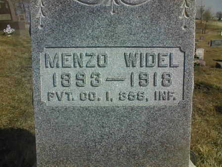 WIDEL, MENZO - Jackson County, Iowa | MENZO WIDEL