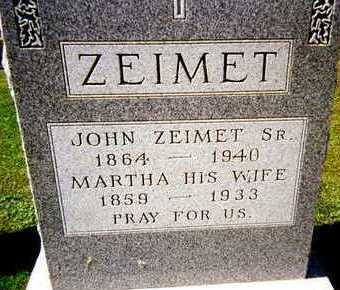 ZEIMET, MARTHA - Jackson County, Iowa | MARTHA ZEIMET