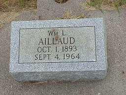AILLAUD, WILLIAM LOUIS - Jasper County, Iowa | WILLIAM LOUIS AILLAUD