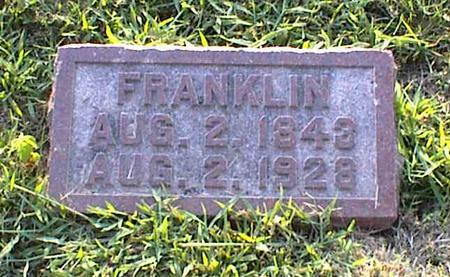 ANDERSON, FRANKLIN - Jasper County, Iowa   FRANKLIN ANDERSON