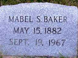 SHULL BAKER, MABEL S. - Jasper County, Iowa | MABEL S. SHULL BAKER