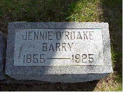O'ROAKE BARRY, JENNIE - Jasper County, Iowa | JENNIE O'ROAKE BARRY