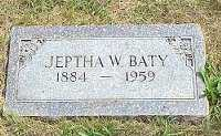 BATY, JEPTHA WILLIAM - Jasper County, Iowa | JEPTHA WILLIAM BATY