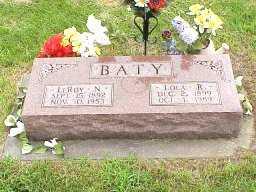 BATY, LEROY NEWTON - Jasper County, Iowa | LEROY NEWTON BATY