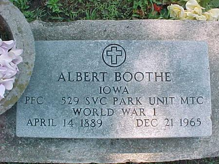 BOOTHE, ALBERT - Jasper County, Iowa | ALBERT BOOTHE