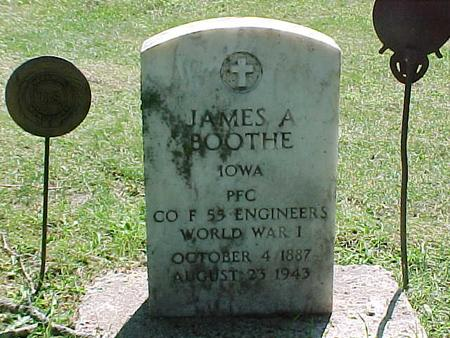 BOOTHE, JAMES ALFRED - Jasper County, Iowa | JAMES ALFRED BOOTHE