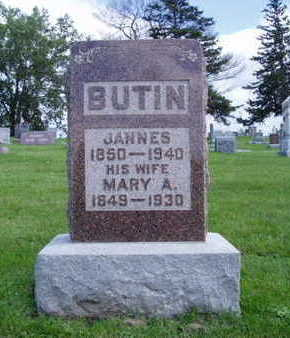 WHEELER BUTIN, MARY ANN - Jasper County, Iowa | MARY ANN WHEELER BUTIN