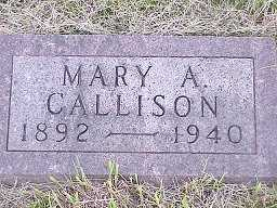 ALLFREE CALLISON, MARY - Jasper County, Iowa | MARY ALLFREE CALLISON