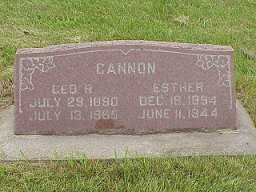 CANNON, ESTHER - Jasper County, Iowa | ESTHER CANNON