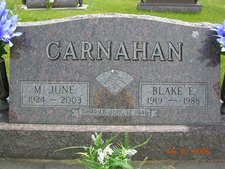 BERKENBOSCH CARNAHAN, MARY JUNE - Jasper County, Iowa | MARY JUNE BERKENBOSCH CARNAHAN