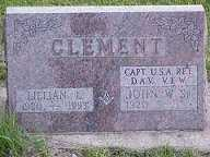 CLEMENT, JOHN W. - Jasper County, Iowa | JOHN W. CLEMENT