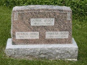 STOCK DODD, JENNIE - Jasper County, Iowa | JENNIE STOCK DODD