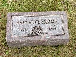 EMMACK, MARY ALICE - Jasper County, Iowa | MARY ALICE EMMACK