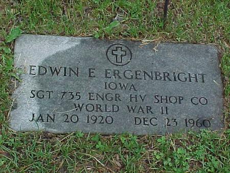 ERGENBRIGHT, EDWIN - Jasper County, Iowa | EDWIN ERGENBRIGHT