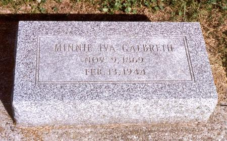 GALBRETH, MINNIE IVA - Jasper County, Iowa | MINNIE IVA GALBRETH