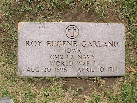 GARLAND, ROY EUGENE - Jasper County, Iowa | ROY EUGENE GARLAND