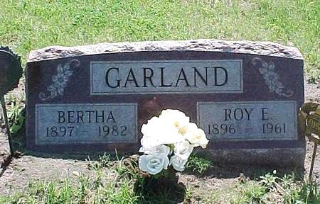 GARLAND, BERTHA - Jasper County, Iowa | BERTHA GARLAND