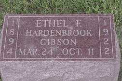 HARDENBROOK GIBSON, ETHEL - Jasper County, Iowa | ETHEL HARDENBROOK GIBSON