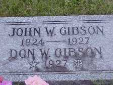 GIBSON, DON W. - Jasper County, Iowa | DON W. GIBSON