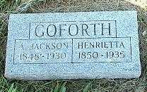 GOFORTH, ANDREW JACKSON - Jasper County, Iowa | ANDREW JACKSON GOFORTH