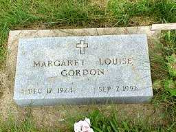GORDON, MARGARET LOUISE - Jasper County, Iowa | MARGARET LOUISE GORDON