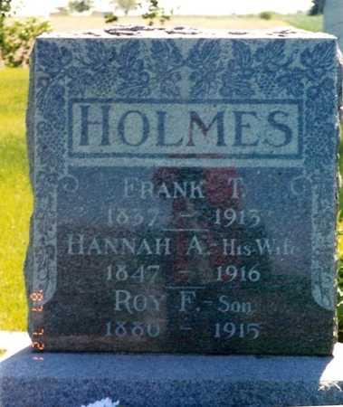 HOLMES, HANNAH A. - Jasper County, Iowa | HANNAH A. HOLMES