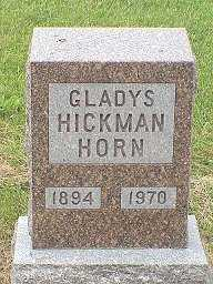 HICKMAN HORN, GLADYS - Jasper County, Iowa | GLADYS HICKMAN HORN