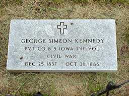 KENNEDY, GEORGE SIMEON - Jasper County, Iowa | GEORGE SIMEON KENNEDY