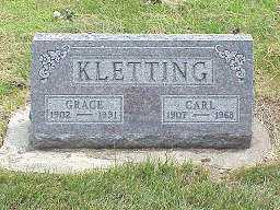 KLETTING, GRACE - Jasper County, Iowa | GRACE KLETTING